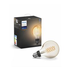 Philips Hue LED Pære E27 Filament Globe BT - Philips