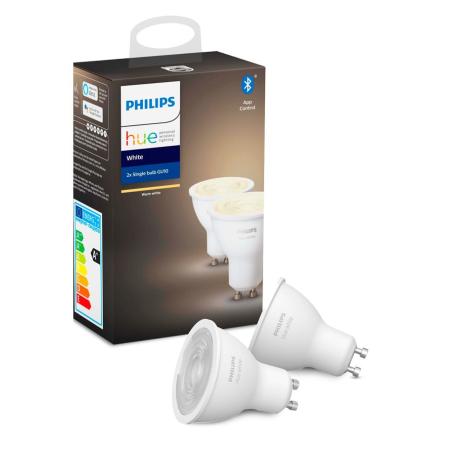 Philips Hue White LED spot GU10 2-pack BT - Philips