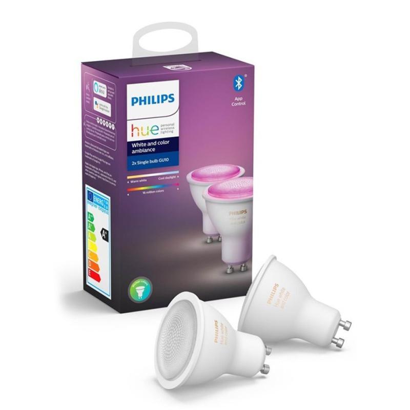 Philips Hue Color LED spot GU10 2-pack BT - Philips