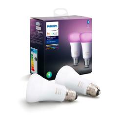 Philips Hue LED Pære E27 Farvet 806lm Bt 2-pack - Philips