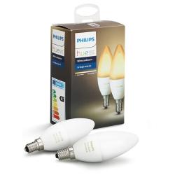 Philips Hue White Ambiance LED Pære E14 BT 2-pack - Philips