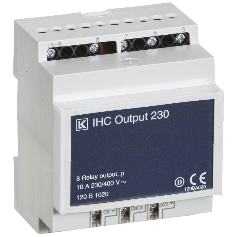 IHC Control Output 230 V AC 10 A med 8 udgange - Lauritz Knudsen