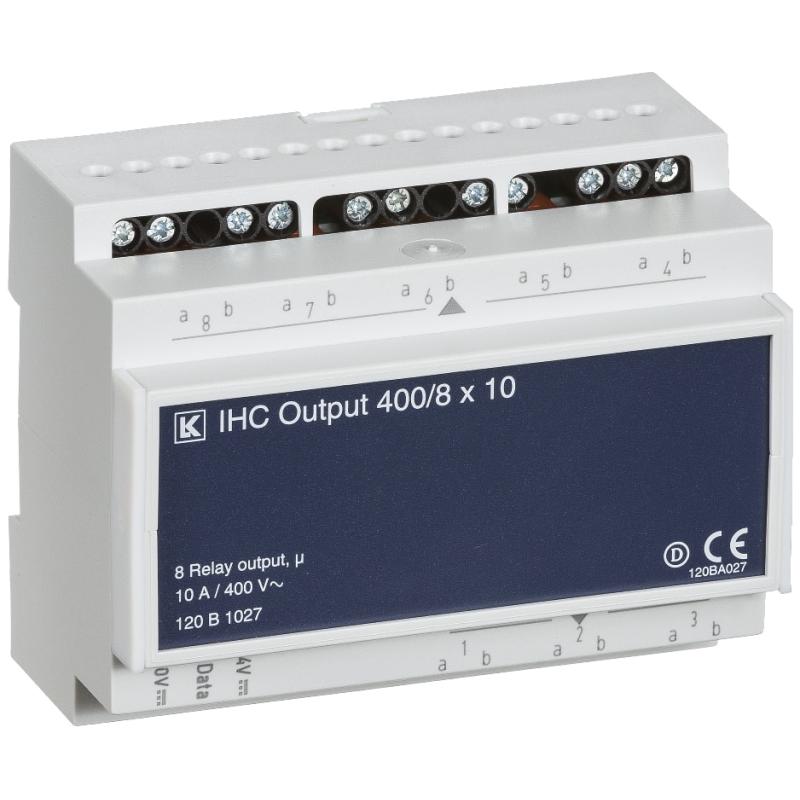 IHC Control Output 400 V AC 8x10A med 8 Udgange - Lauritz Knudsen