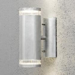 Modena Double Væglampe udendørs GU10 IP44 i Galvaniseret - Konstsmide