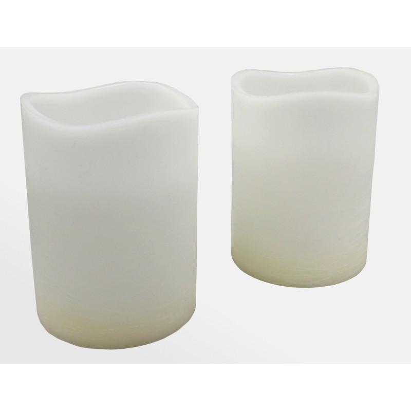 Wax Candle LED Bloklys 200 mm Høje I...
