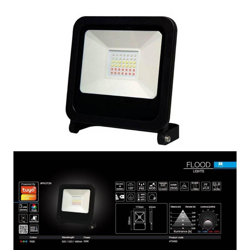 PHOTON BT RGB LED Projektør 50W,...