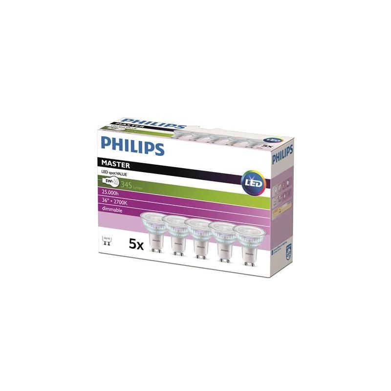 Philips Master GU10 LED Pære 5W 3000K...