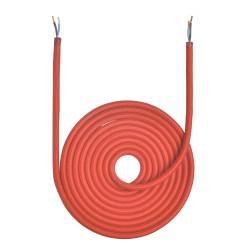 3 Meter Rød Stofledning...