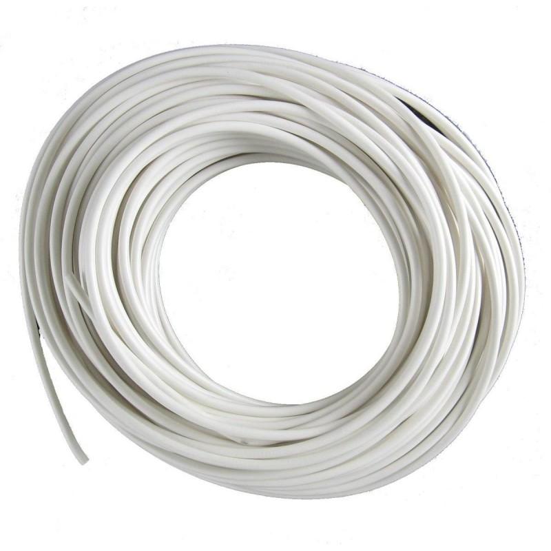 Rund Ledning i Hvid Til 230V 2X0,75 mm² - 50 Meter