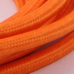 Orange Stofledning - Ensfarvet 2X0,75 m2