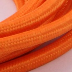 Orange Stofledning - Ensfarvet 2X0,75 m2