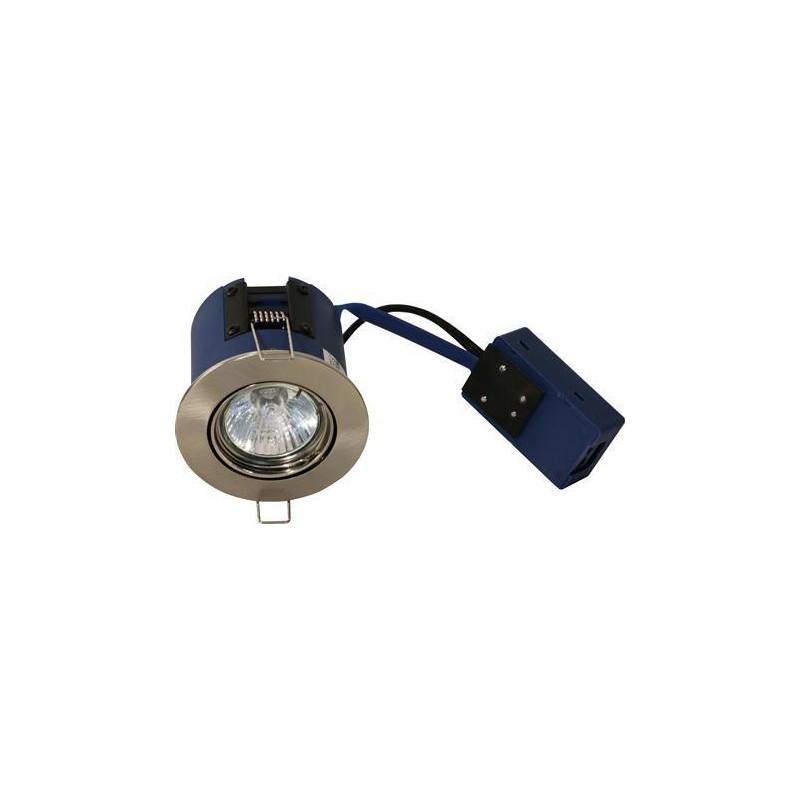 BLUE-DL Spot Fjeder GU10 18W ISO i Børstet Stål