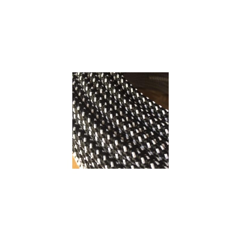 Sort/Hvid Stofledning - Ensfarvet 2X0,75 m2