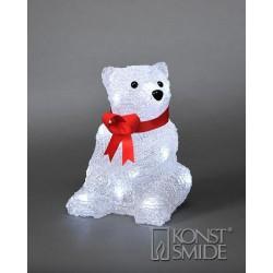Isbjørn Med 16 LED Lys - Konstsmide