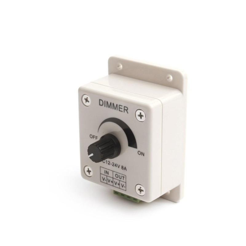 LED Lysdæmper (12V) 0-96W - Grå