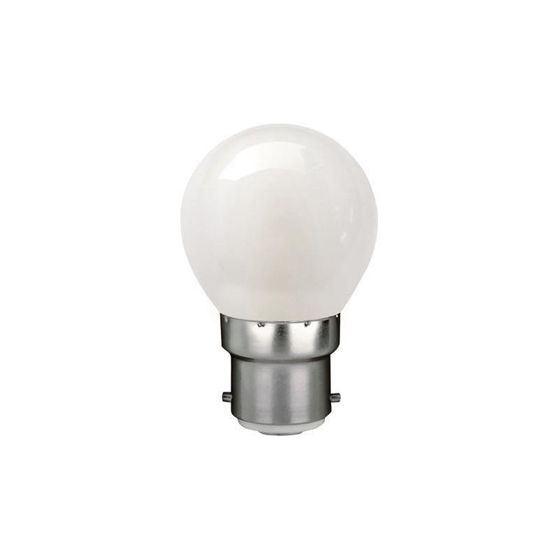 Mat LED Krone Pære 1,8W B22 i 2700K - 360°