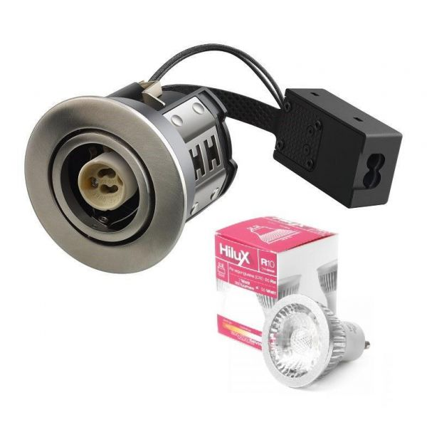 Hilux R10 LED Downlight 230V 7W 2700K Ra95 380Lm - Børstet