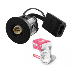 Hilux R10 LED Downlight 230V 7W 2700K Ra95 380Lm - Sort