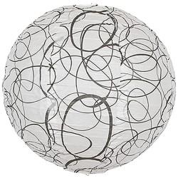 Mønstret pendel med cirkler ø35 cm