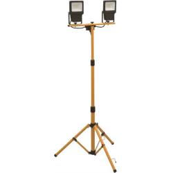 Castor LED Arbejdslampe 2X20W På Stativ Til 230V i 4000K 3200Lm