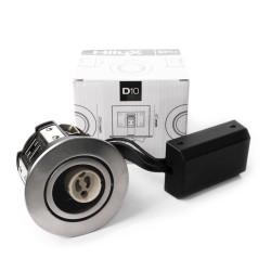 Hilux D10 Indbygningsspot 65mm 230V GU10 - Rustfri Stål