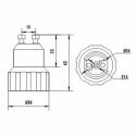 GU10 til E14 adapter