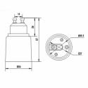 GU10 til E27 adapter