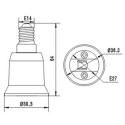 E14 til E27 adaptor