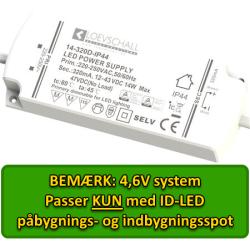 LED Driver 4,6V til ID-LED Spot, 4 Udgange