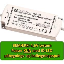 LED Driver, 4,6V til ID-LED Spot, 4 Udgange