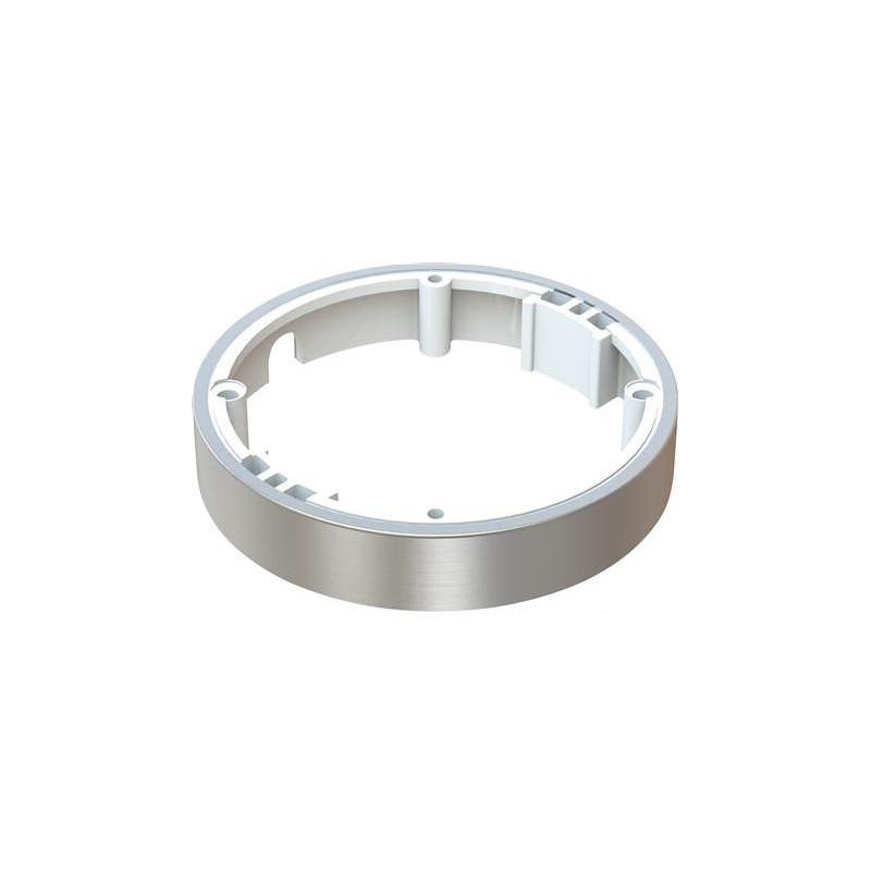 Påbygningsring, Børstet rustfri stål, til ID-LED spot og Loevschall 12V indbygningsspot til G4 stiftpære