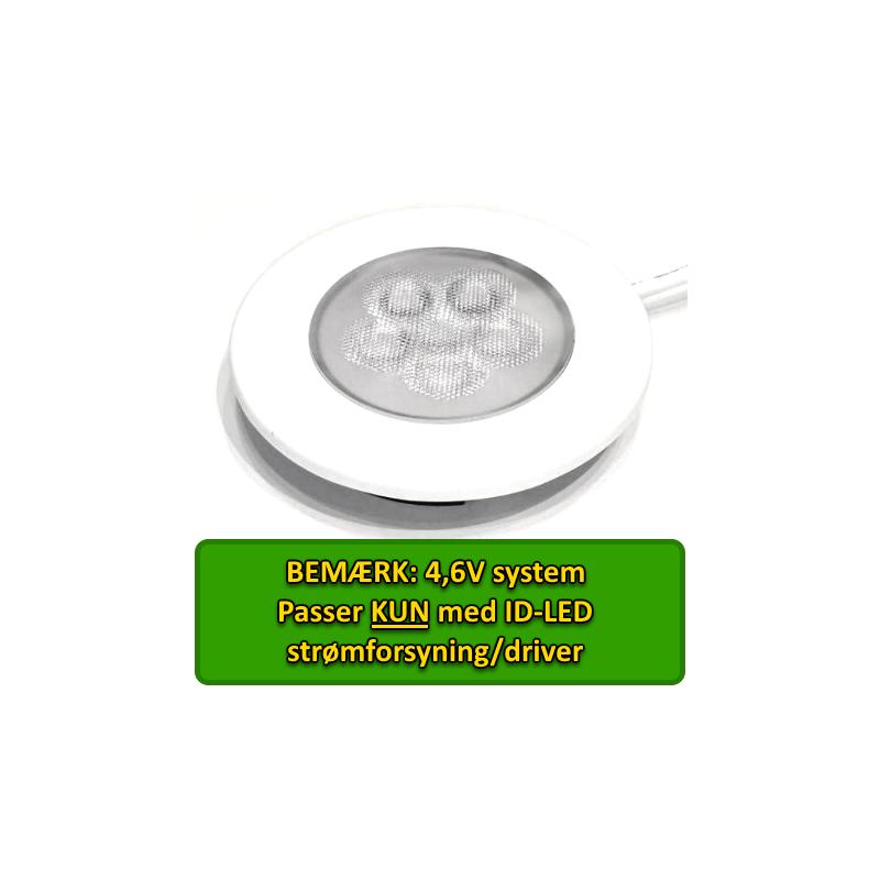 ID-LED Indbygningsspot 2,5W, Varm Hvid, 3000K, Ra92 - Hvid