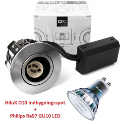 Philips Expert D10 LED Spot 3,9W 2700K Ra97 230V - Børstet
