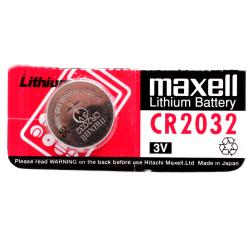 Maxell CR2032 knapcellebatteri, 3V, 210mAh, Lithium