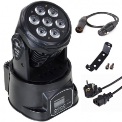 Moving Head, 7 x 12W LED, RGBW