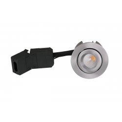 HiluX D12 LED Downlight 230V 9W 3000K Ra96 600Lm i Børstet - 60°