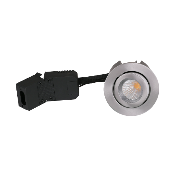 AD12 LED Downlight 230V 9W 3000K Ra96 600Lm i Børstet - 60°