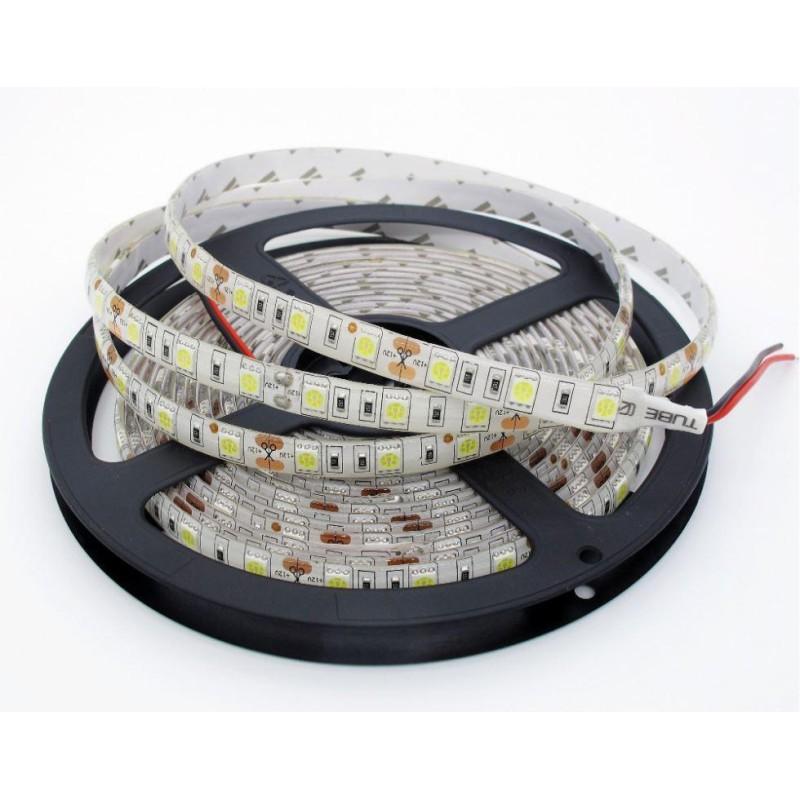 LED Bånd 12V Vandtæt IP65 3M Tape Varm Hvid 2700K 5 Meter