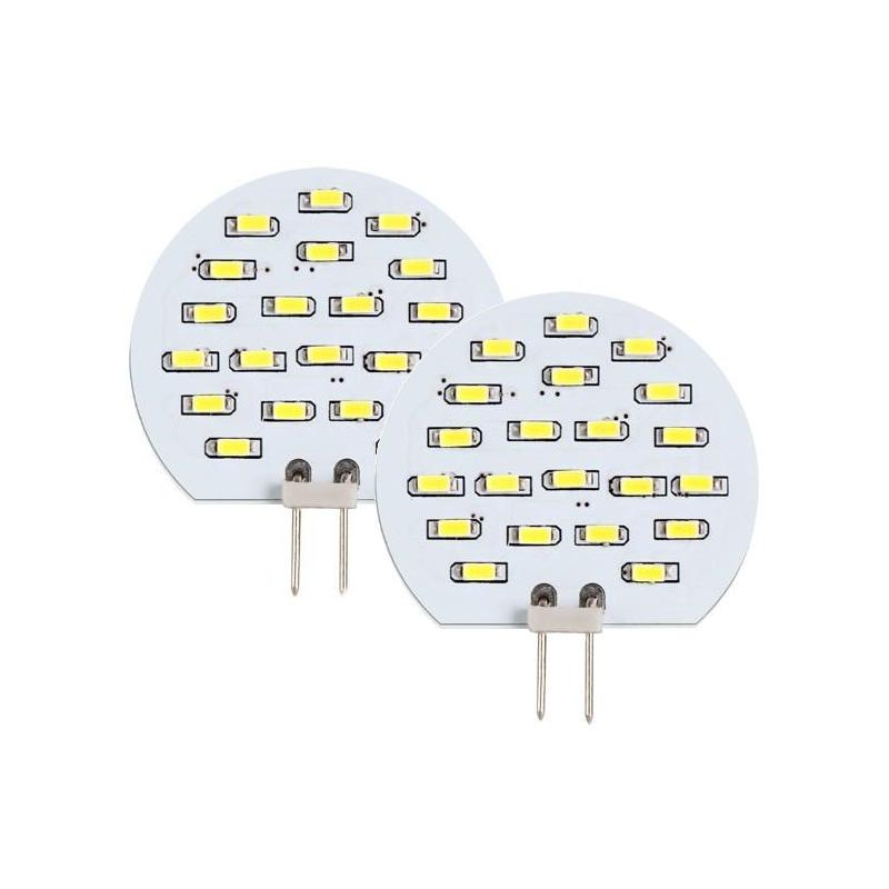 Ultralux G4 LED stiftpære, 2W, 12V, Varm hvid, 140LM - 2-pak