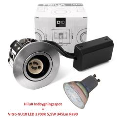 Vitro D10 LED Spot 5,5W 2700K 345Lm Ra90 230V i Børstet