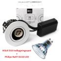 Philips Expert D10 LED Spot 3,9W 2700K Ra97 230V i Hvid