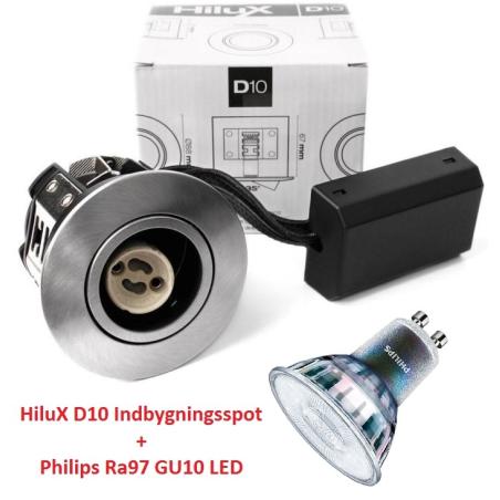 Philips Expert D10 LED Spot 3,9W 3000K Ra97 230V - Børstet