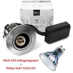 Philips Expert D10 LED Spot 5,5W 3000K Ra97 230V i Børstet