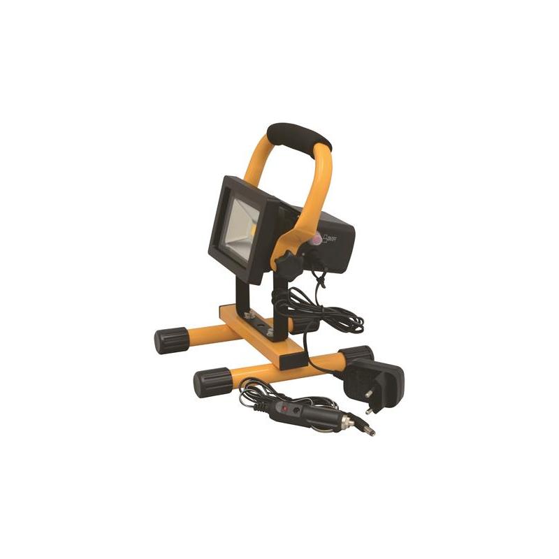 Castor LED Arbejdslampe 10W På Stativ Genopladelig 12V/230V