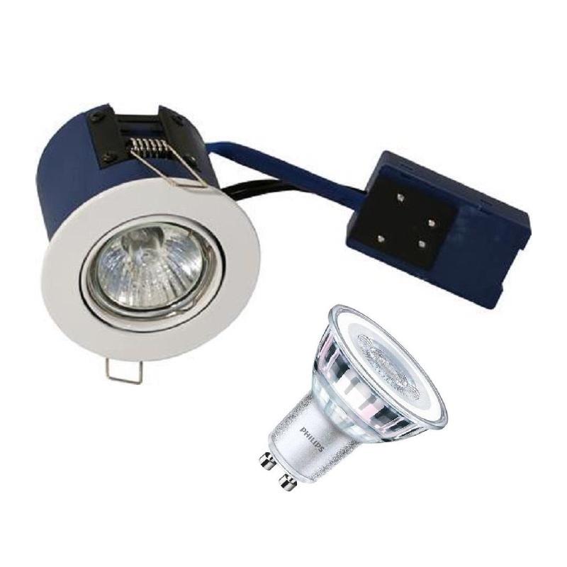 BLUE-DL Philips LED Spot 5W i 2700K 230V - Hvid