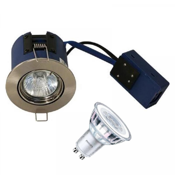 BLUE-DL Philips LED Spot 5W i 2700K 230V - Børstet