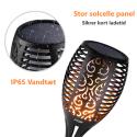 2 stk. Autentiske solcelle fakler med realistisk flamme og sparefunktion