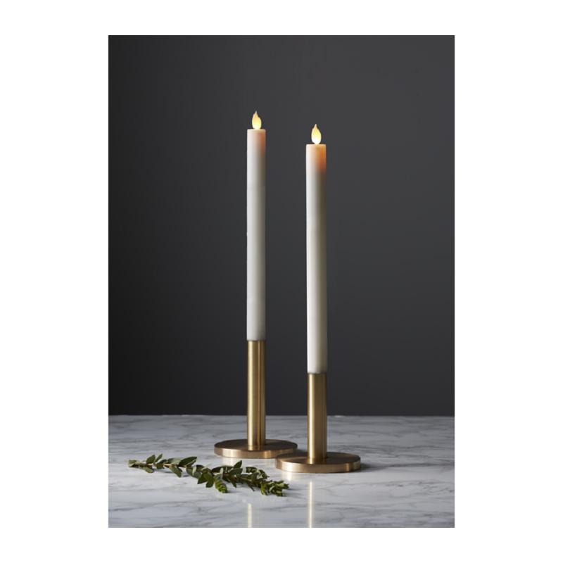 led stearinlys M Twinkle LED Stearinlys 30cm Med Timer i Hvid   2 pak led stearinlys