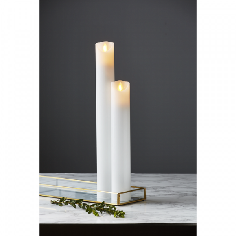 Ultra Twinkle LED Søjle Stearinlys 30cm Med Timer i Hvid IE87