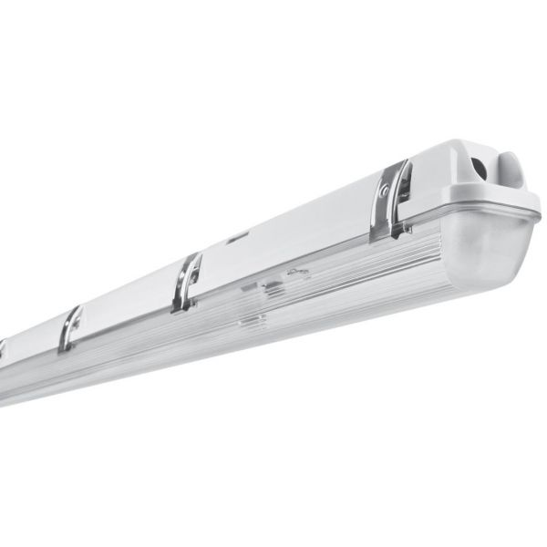 Polyesterarmatur Med Metal Clips IP65 For LED Lysstofrør 2x150cm